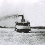 Black and white photograph of the Fortune ferry from 1910